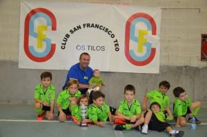 Subcampión Prebenxamín 1º ano: Club San Francisco Teo