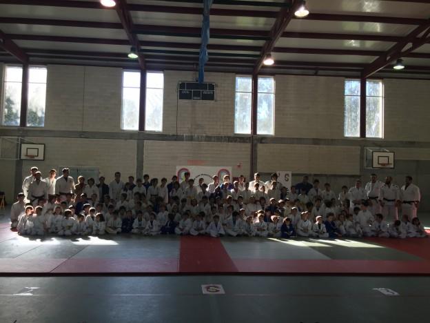 Judokas do XIII Adestramento-Campionato de Judo CSF Teo
